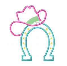 Horseshoe Farm | Instant Download - Cowboy Hat Designs Cowgirl Hat Design on Horseshoe Embroidery Applique - Cowboy Hat on Horseshoe 4x4, 5x7, 6x10 hoops. $ 2.75, via Etsy.