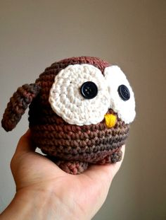 Fat Crochet Owl by ronizee on Etsy...if only I was crafty enough to make this myself!
