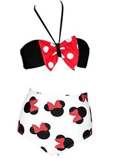 2017-01-25 11_23_24-BANDEA Red Bow Bandeau Bikini Set High Waisted Swimsuits Bathing Suit Swimwear a