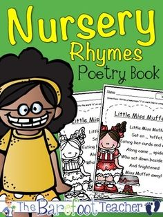 Nursery Rhymes Poetry Book (Color & BW) - Includes 26 nursery rhymes in both color and black/white printable versions. Each nursery rhyme focuses on a word that students will write on the blank(s). Then they will color, cut out around the black rectangle box, and glue in a spiral notebook. Label printouts are included for the spiral cover. 54 pages to print $