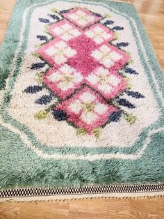 Excited to share this item from my shop: Modernist wool rya rug vintage crafts. Vintage Fabrics, Vintage Wool, Rya Rug, Mid Century Rug, Shaggy Rug, Vintage Crafts, Abstract Pattern, Vintage Designs, Scandinavian
