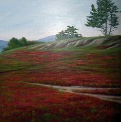 """Blueberry Barrens"" by Ellen Davis (oil on linen, 24 x 24, $2,800)"