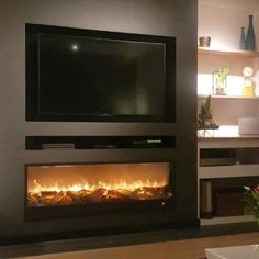 Our LED fireplace Nice design with heating and dimable LED Fireplace Feature Wall, Feature Wall Living Room, Living Room Decor Fireplace, Wall Mounted Fireplace, Basement Fireplace, Wall Mount Electric Fireplace, Home Fireplace, Fireplace Remodel, Fireplace Design