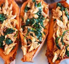 Sweet potato chicken and spinach easy paleo clean dinner