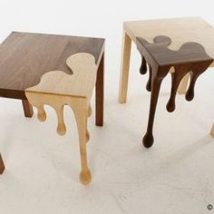 Unique Wooden Table with Droplets Sculpture – Fusion Table