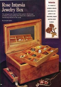 #2984 Build Jewelry Box - Woodworking Plans