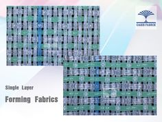 Single layer forming fabrics.  Tela formadora soltera capa para fabricación de papel.