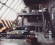 Loft Inspiration : Alex HemandezThe Definitive Source for Interior Designers Loft Interior Design, Loft Design, Interior Architecture, Interior Colors, Interior Modern, Design Jobs, Design Scandinavian, Home Modern, Design Living Room