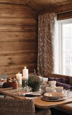 høst Winter Lodge, Red Cottage, Modern Rustic, Perfect Place, Table Settings, Relax, Cabin, Boat House, Places