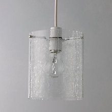 Buy John Lewis Easy-to-fit Dallas Crackle Glass Ceiling Shade Online at johnlewis.com