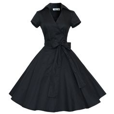 Maggie Tang® 50s 60s Vintage Short Sleeves Swing Rockabilly Ball Party Dress at Amazon Women's Clothing store: