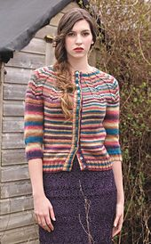 Ravelry: Herringbone Yoke Cardigan pattern by Joanna Allport