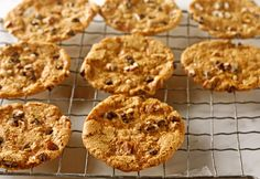 Toffee Pecan Topped Cookies - These decadent drop cookies will drop out of sight if they're left on the counter without supervision! Mini Chocolate Chips, Chocolate Chip Cookies, Substitute For Egg, Toffee Bits, Drop Cookies, Recipe Details, Canola Oil, Vanilla Flavoring, Other Recipes