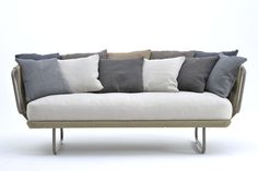 Babylon large sofa, front view, Giopato & Coombes for Varaschin