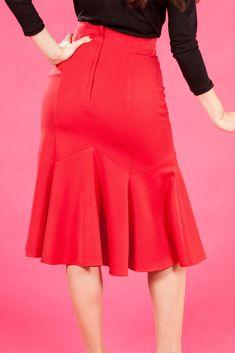 Raina-Rose - 1940s patel effect skirt