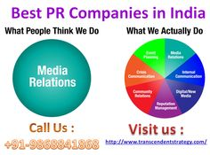 Best pr companies in India, Dial +91-9868841868  Our experienced team enacts Strong Media Presence which helps our client maintain a positive trust and strong relationship in the market place. Strong Media Engagement boosts the reputation of a brand and hits the mind of its potential customer. You can call us on : +91-9868841868  or visit us at : http://www.transcendentstrategy.com/  http://www.slideshare.net/TedTaylor12/best-pr-companies-in-india-dial-919868841868-64790359