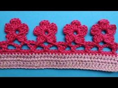 Watch The Video Splendid Crochet a Puff Flower Ideas. Phenomenal Crochet a Puff Flower Ideas. Crochet Boarders, Crochet Edging Patterns, Easy Knitting Patterns, Crochet Motif, Crochet Stitches, Crochet Edgings, Quick Crochet, Love Crochet, Filet Crochet