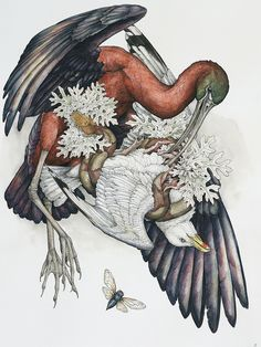 dark art of Lauren Marx Animal Drawings, My Drawings, Historia Natural, Art Graphique, Art And Illustration, Dark Art, Painting & Drawing, Wilderness, Renaissance