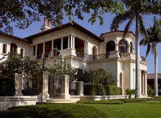 Inside Alan & Sandra Gerry's Palatial 32,000 Sq. Ft. Compound in Florida's Exclusive Port Royal Enclave (PHOTOS) - Pricey Pads Kahn Design, Port Royal, Huge Houses, Mediterranean Design, Large Homes, Elegant Homes, Maine House, Architecture Details, Amazing Architecture
