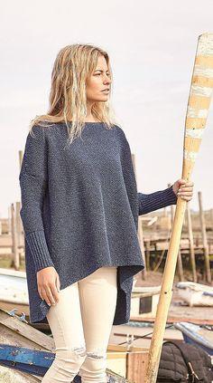 Джемпер оверсайз спицами. Схемы вязания свитеров oversize | Вязание для всей семьи