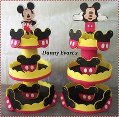 Mickey Mouse Png, Mickey E Minie, Mickey Decorations, Diy Party Decorations, Miki Mouse, 1st Birthday Cake Topper, Party In A Box, Birthday Party Themes, Crafts For Kids