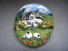 Handmade needle felted brooch    Pet Sheep at Oak Tree Cottage    by Tracey Dunn