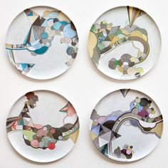 cloud vacation plate set by poketo