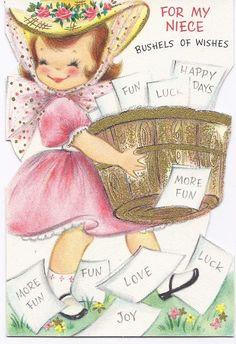 M35 Vintage used Birthday for Niece Greeting Card by jarysstuff, $3.00