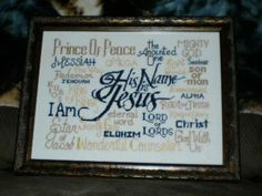Cross Stitch Bible Verse Free Design His Name is Jesus