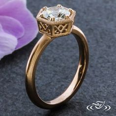 PETITE FILIGREE ENGAGEMENT RING