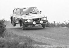 Tapio Rainio during the rally of 1000 lakes in Finland, 1977