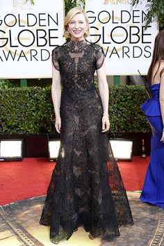 Cate Blanchett in Armani at the 2014 Golden Globes