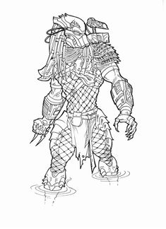 Alien Vs Predator Coloring Pages 10 Free Printable Coloring