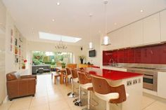 red and white kitchen Find Property, Property For Sale, Kitchen Units, Kitchen Cabinets, Red And White Kitchen, Flats For Sale, Kitchen Design, Kitchens, Heaven