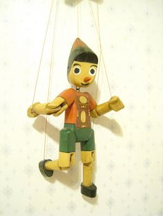 Vintage Hand Puppet Pinocchio Toy by JessPlusCoutureSwim on Etsy, $30.00