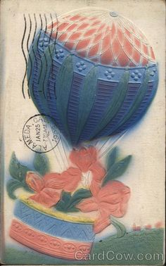 Flowers and Balloon Hot Air Balloons