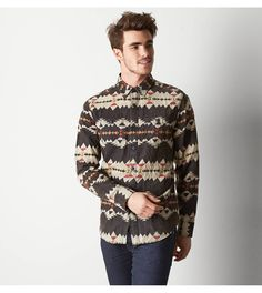 cool tribal flannel #hipster #wishlist #ae