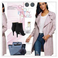pink coat by duma-duma on Polyvore featuring modern