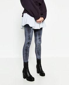 LEGGING EN VELOURS-Leggings-PANTALONS-FEMME   ZARA France