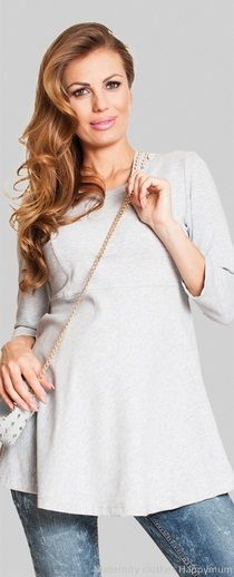 Miss you cotton jersey maternity top