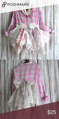 Boho/gypsy tunic NWOT  Beautiful boho gypsy lace tunic NWOT True Rebel Clothing  Tops Tunics