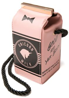 Dolls Kill The Legend Dairy Bag | Dolls Kill... ANG, this is the Unicorn Milk... Its a purse, If you go to the link you can see it on the model. It comes in pink, almond and lavender... Let me know...
