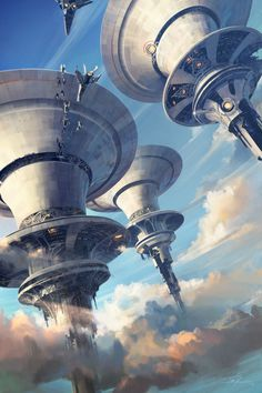ArtStation - Skycities, Tuomas Korpi