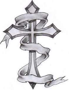 cross tattoos for men | Gothic cross tattoo drawing and wings cross tattoo drawing. - Peg It ...