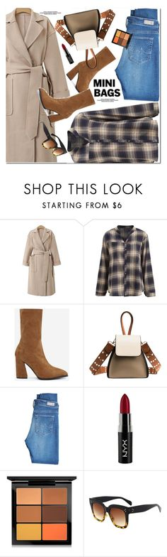 """""""Mini Bags"""" by oshint ❤ liked on Polyvore featuring AG Adriano Goldschmied, NYX and MAC Cosmetics"""