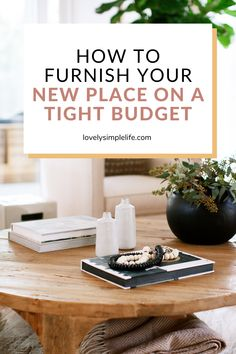 12 tips and ideas to help you furnish your new place on a budget. Whether you are moving out on your own for the first time or you are buying your first home saving money on your furniture is always a good idea. Saving Ideas, Money Saving Tips, Apartment Decorating On A Budget, Buying Your First Home, Planning And Organizing, First Time Home Buyers, Frugal Living Tips, New Homeowner, Affordable Furniture