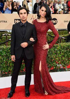 Dynamic duo: Fellow Big Bang Theory star Kunal Nayyar looked handsome while accompanied by model wife Neha Kapur