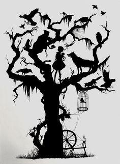 fairy tale silhouettes | Fairy Tale Silhouette by ChloeNArt