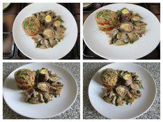 Rouler  de  veau a la  rustique  torteau  de legumes    jus  de  champignons  avec  creme    Gino D'Aquino.