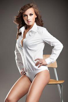 Sklep galeriamoda.pl - Klasyczna koszula BODY - biały